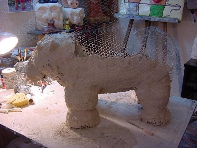 monique ballian artiste sculpteur en france var jojo l 39 hippopotame. Black Bedroom Furniture Sets. Home Design Ideas